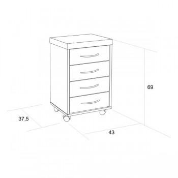C054 - Monty - kontejner na kolečkách, čtyři zásuvky