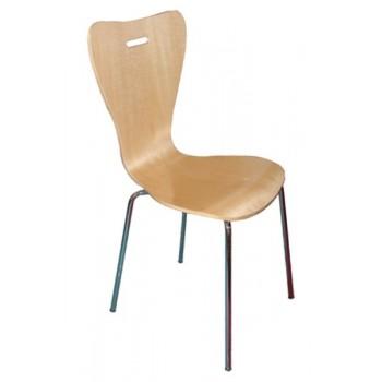 Z12 - Kuchyňská židle chrom-lípa