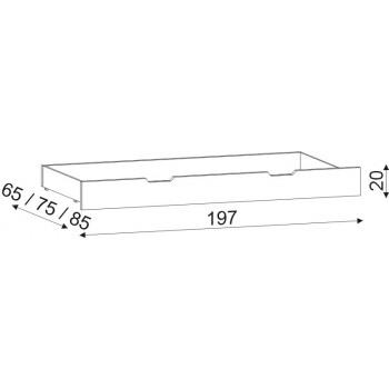 Úložný prostor 1/1 celý cink HP 055B, 197×20×85