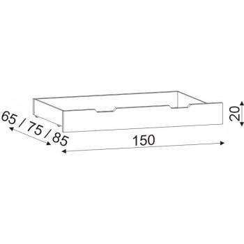 Úložný prostor 3/4 HP 056, 150×20×85