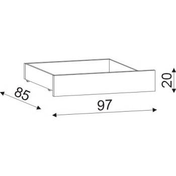 Úložný prostor 1/2 (pár) cink HP 057B, 97×20×85 - 2×