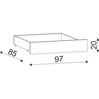 Úložný prostor 1/2 (jedna půlka) HP 057P, 90×20×85