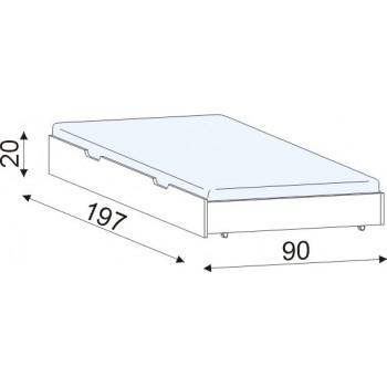 Přistýlka smrk+přední díl buk HP 058B, 197×20×90