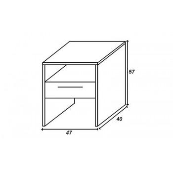 Noční stolek Erik HP 095S, 47×57×40