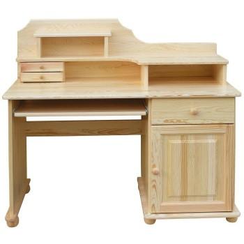 Psací stůl stylový - DM-KL-188, masiv borovice,  Doprava ZDARMA