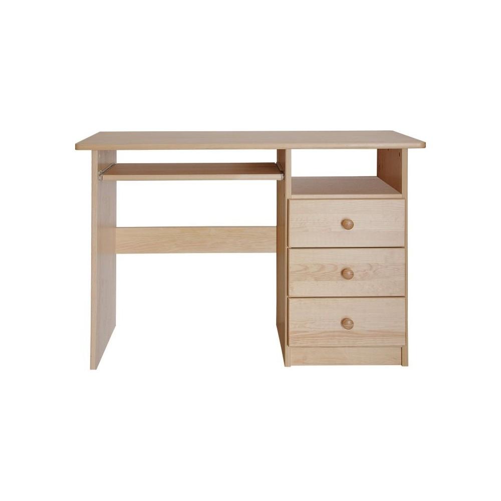 psací stůl III se zásuvkami - DM-KL-189, masiv borovice,  Doprava ZDARMA