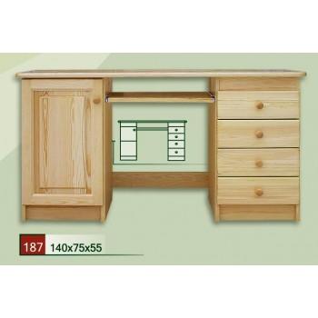 Psací stůl velký K - DM-KL-187, masiv borovice,  Doprava ZDARMA