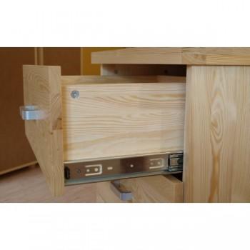 Dvoudveřová Policová skříň se zásuvkami Mango DM-MA-002, masiv borovice, Doprava ZDARMA