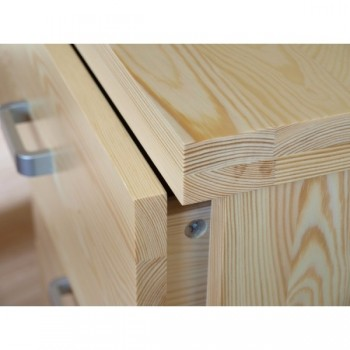 Komoda se zásuvkami - Prádelník nízký Mango DM-MA-021, masiv borovice, Doprava ZDARMA