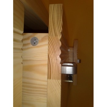 Dvoudveřová Šatní skříň Mango LUX DM-ML-001, masiv borovice, Doprava ZDARMA