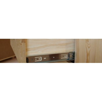 Stylový dřevěný Příborník - Vitrína VENEZIA II - DM-VZ-004, masiv borovice, Doprava ZDARMA