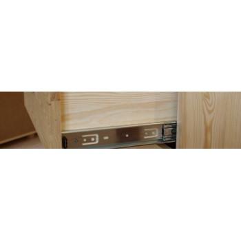 RETRO dřevěný Příborník - Vitrína VENEZIA III - DM-VZ-007, masiv borovice, Doprava ZDARMA