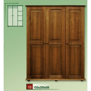RETRO dřevěná skříň VENEZIA III - DM-VZ-010, masiv borovice, Doprava ZDARMA