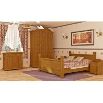 Manželská postel Retro dvoulůžko DM-KL-098, masiv borovice, Doprava ZDARMA