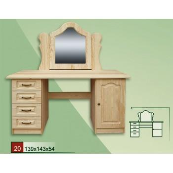 Stylová dřevěná toaletka VENEZIA - DM-VZ-020, masiv borovice, Doprava ZDARMA