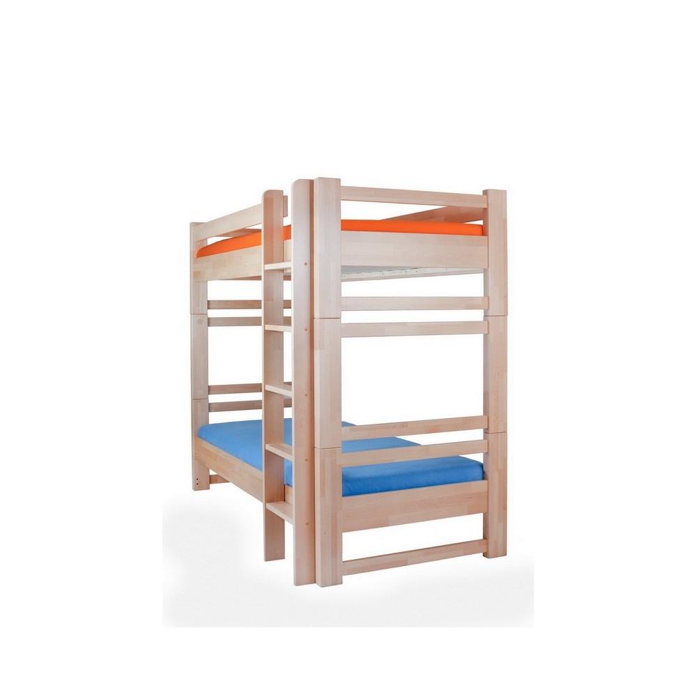 DĚTSKÁ POSTEL Lucas - patrová postel rozkládací buk