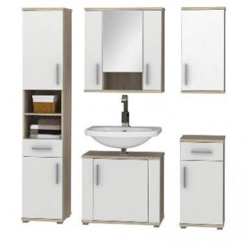 Koupelnová sestava LINDA sonoma + bílá