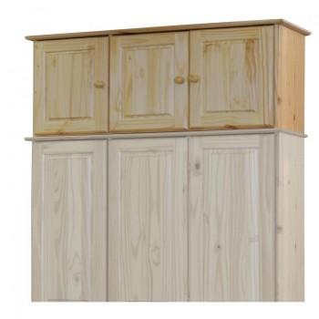 Nástavec na šatní skříň 3 dveřový 8864, masiv borovice