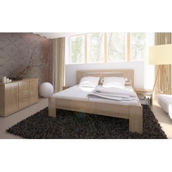 Manželská postel NAOMI SUPRA - lakovaný BUK Cink