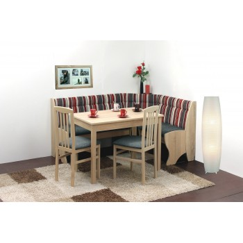 Set SOFIE - rohová lavice + stůl + 2 židle