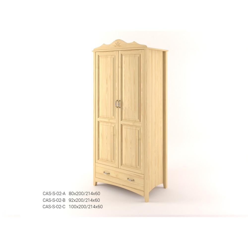 Stylová dvoudveřová pološatní skříň se zásuvkou CASTELLO
