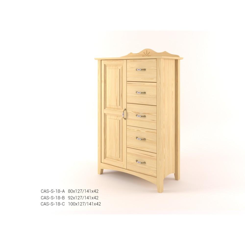 Stylová komoda kombinovaná - prádelník 1D+5Z CASTELLO