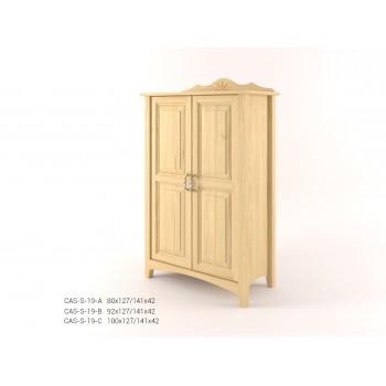 Stylová komoda dvoudveřová vysoká - prádelník 2D CASTELLO