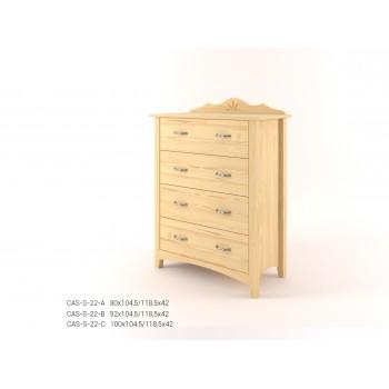 Stylová komoda zásuvková - prádelník 4Z CASTELLO