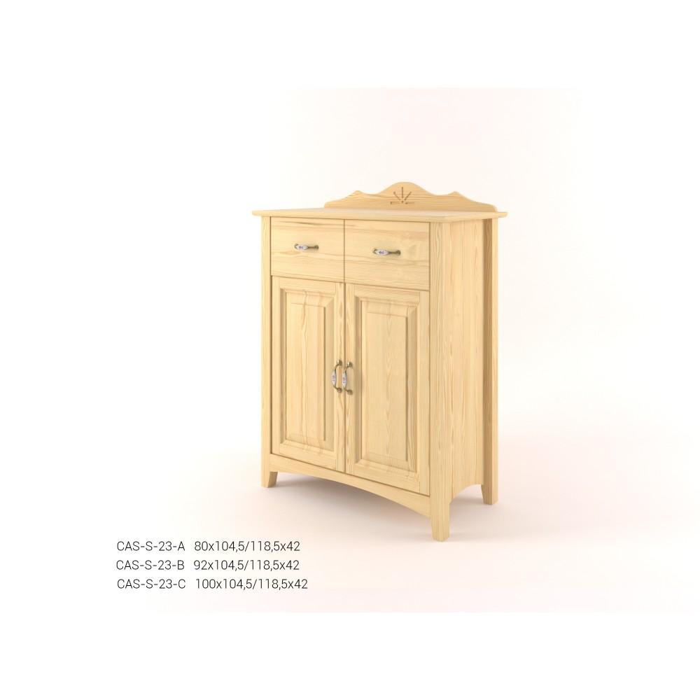 Stylová komoda kombinovaná - prádelník 2D+2Z CASTELLO