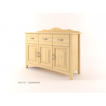 Stylová komoda kombinovaná - prádelník 3D+3Z CASTELLO