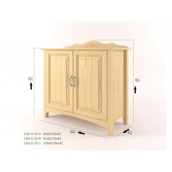 Stylová komoda dvoudveřová - prádelník 2D CASTELLO