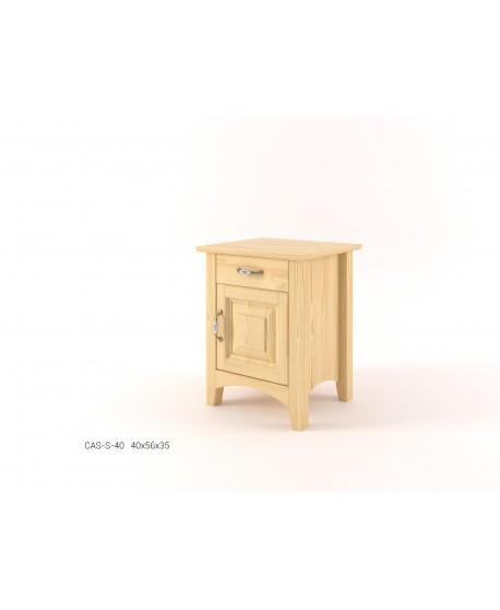 Stylový noční stolek s dvířky CASTELLO