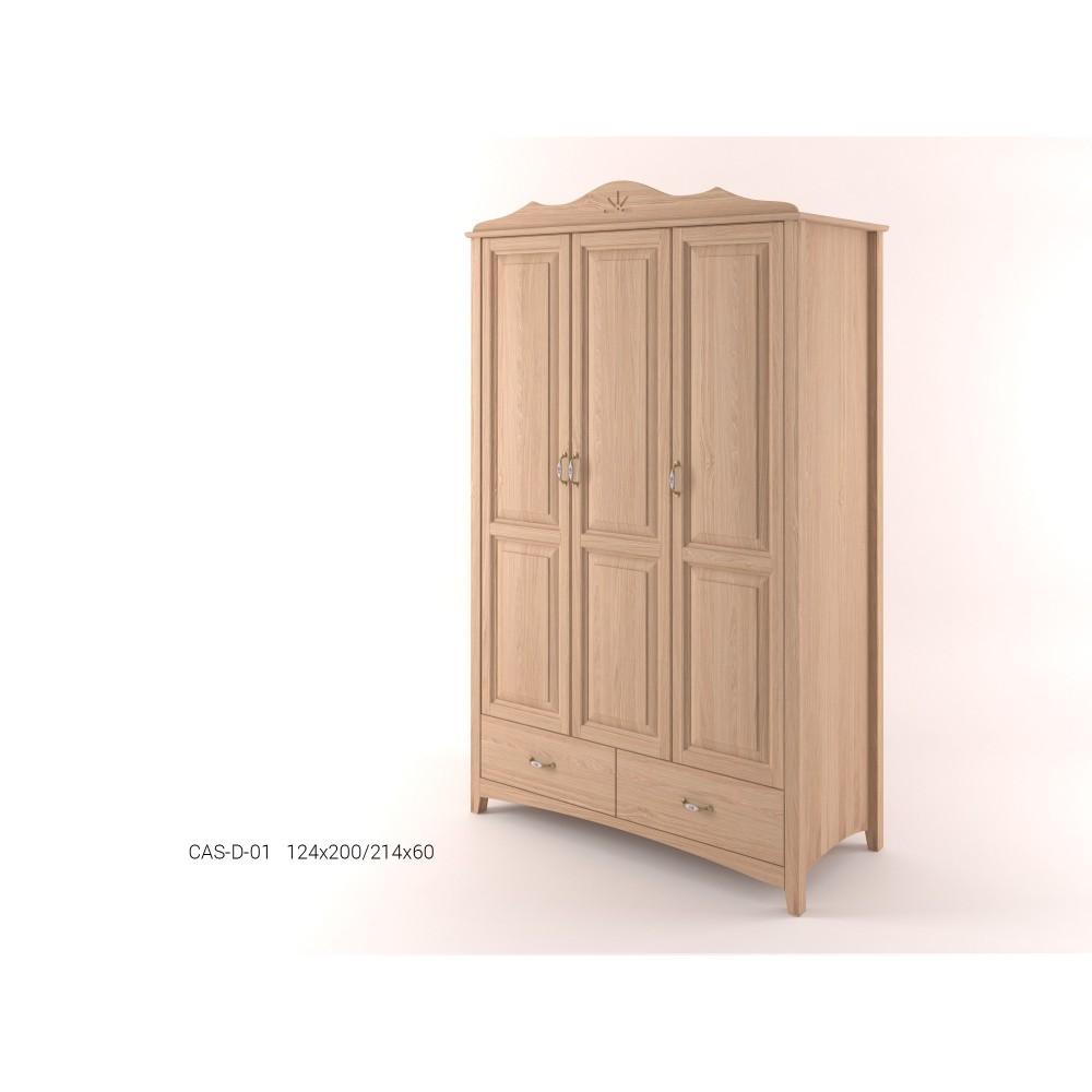 Stylová třídveřová pološatní skříň se zásuvkami CASTELLO