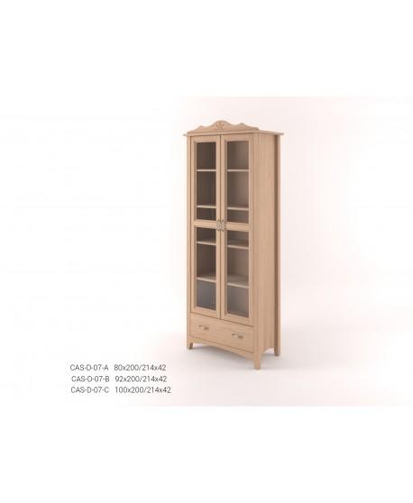 Stylová dvoudveřová Vitrína se zásuvkou CASTELLO