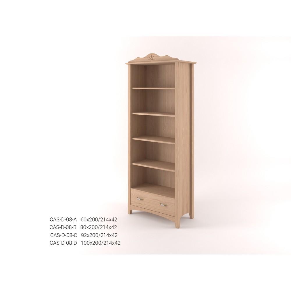 Stylová vysoká knihovna se zásuvkou CASTELLO