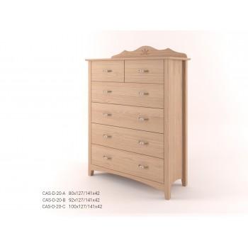 Stylová komoda zásuvková - prádelník 4+2Z CASTELLO