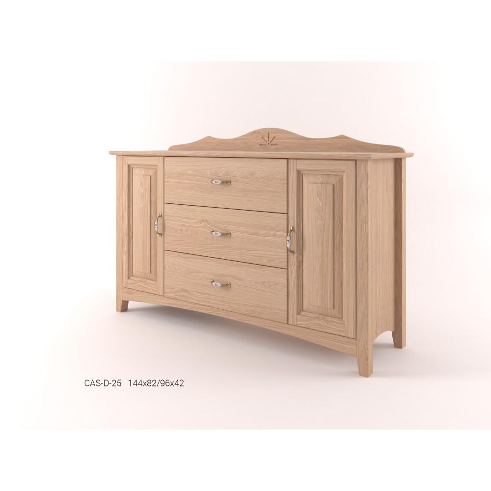 Stylová komoda kombinovaná široká - prádelník 2D+3Z CASTELLO