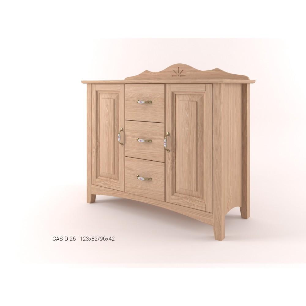 Stylová komoda kombinovaná - prádelník 2D+3Z CASTELLO
