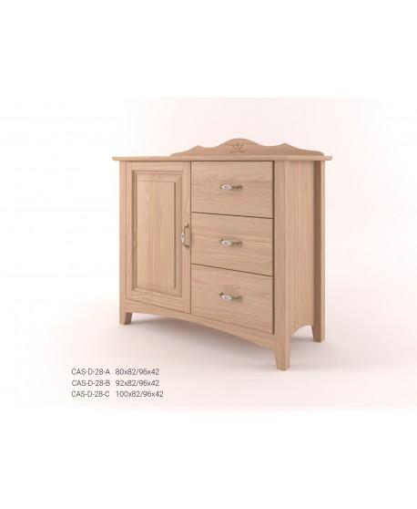 Stylová komoda kombinovaná - prádelník 1D+3Z CASTELLO