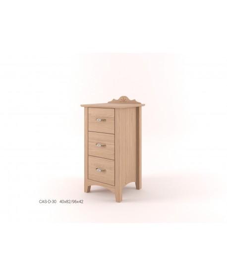 Stylová komoda zásuvková malá - prádelník 3Z CASTELLO
