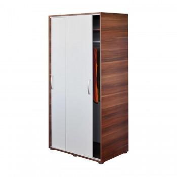Šatní Skříň s posuvnými dveřmi 65641 ořech - bílá