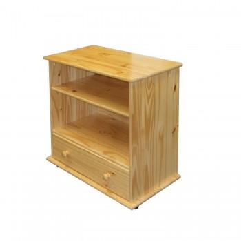 TV stolek z masivu na kolečkách 8841, borovice