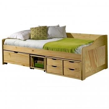 Zvýšená postel se zásuvkami 8809 - PŘÍRODNÍ
