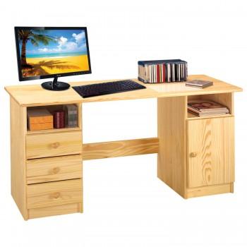 PC stůl se zásuvkami a dvířky 8847