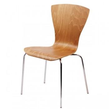 Z15 - Židle chromová + překližka SANDRA