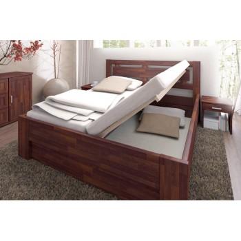 Manželská postel NAOMI SUPRA + pevný ÚP + bočně výklopný rošt