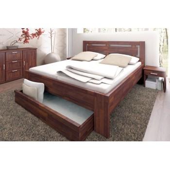 Manželská postel NAOMI SUPRA + 3/4 ÚP na kolečkách SUPRA