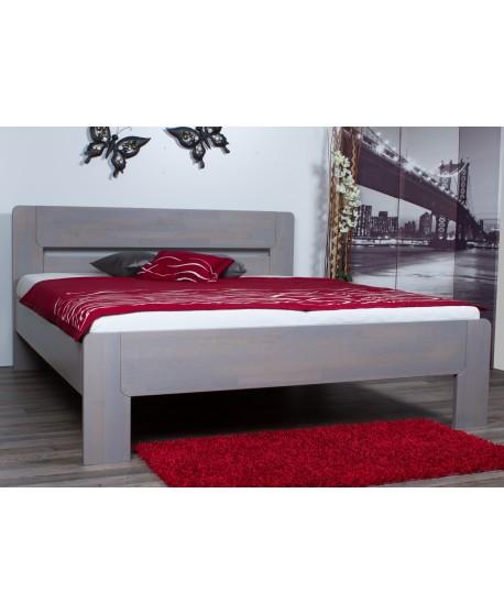 Manželská postel ROMA 167B - moření ŠEDÁ