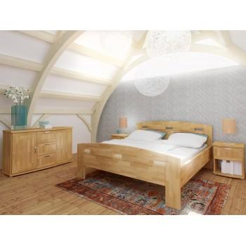 Noční stolek MEGAN 194B, postel MEGAN + komoda MEGAN