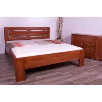 Manželská postel NAOMI Supra OBLÁ - moření kaštan